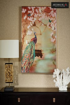 Suki Peacock Framed Print by Arthouse