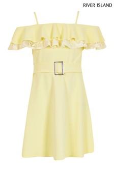 River Island Yellow Lace Maisie Dress