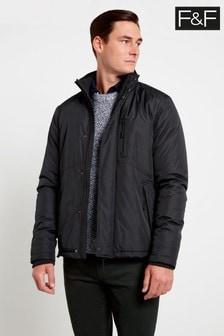F&F Black Fleece Lined Padded Coat