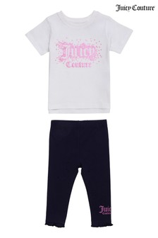 Juicy Couture Faux Sequin T-Shirt And Legging Set