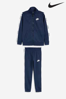 Nike Little Kids Navy Tape Tricot Tracksuit