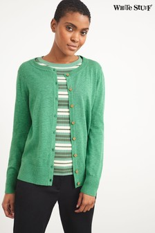 White Stuff Green Lola Crew Neck Cardi