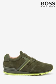 BOSS Parkour Runn Suede Trainers