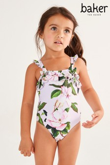 Baker by Ted Baker Girls Floral Ruffle Swimsuit