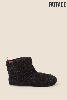 FatFace Black Laurence Knitted Boots