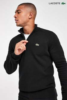 Lacoste® Lambswool Quarter Zip Jumper