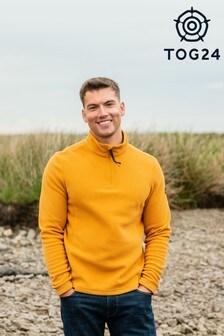 Tog 24 Yellow Shire Mens Fleece Zip Neck Top
