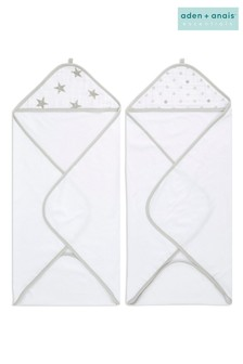 aden + anais Essentials Dusty Hooded Towels Two Pack