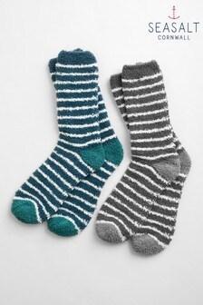 Seasalt Multi Fluffies Men's Socks Two Pack