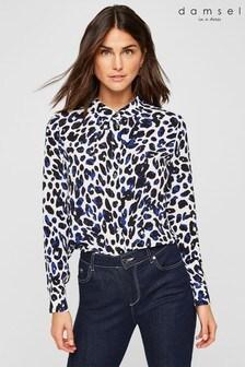 Damsel In A Dress Blue Urban Leopard Blouse
