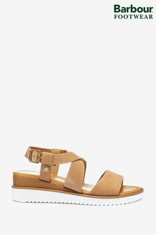 Barbour® Leather Low Wedge Eloise Sandals