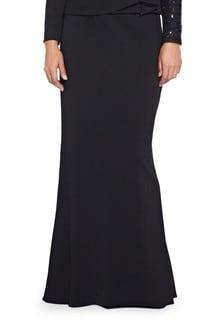 Adrianna Papell Black Crepe Column Skirt
