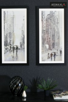 Stretch City Scene Framed Print by Arthouse
