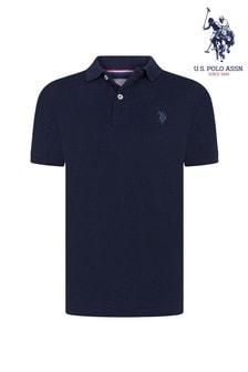 U.S. Polo Assn. Blue Core Pique Polo Shirt