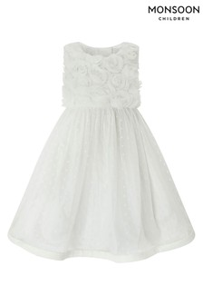 Monsoon Baby Ivory Blossom Rose Dress