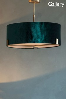 Nicholson Velvet Shade Pendant Light by Gallery Direct