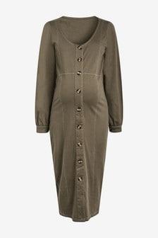 Maternity/Nursing Button Through Dress
