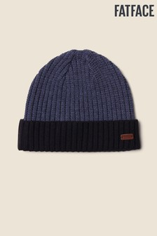 FatFace Blue Colourblock Turn-Up Beanie