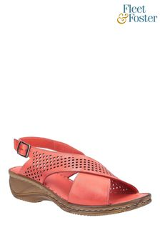 Fleet & Foster Red Judith Open Toe Sandals
