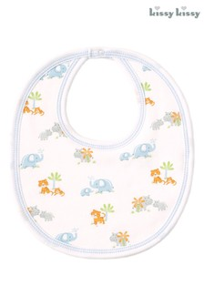 Kissy Kissy White Safari Bib