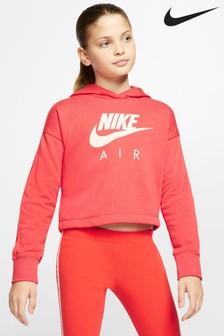 Nike Air Red Crop Hoody