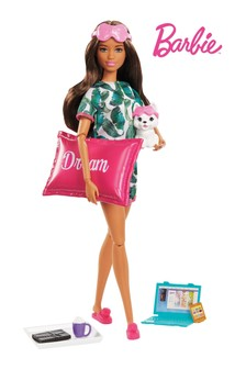 Barbie Relaxation Doll with Puppy & 8 Accessories