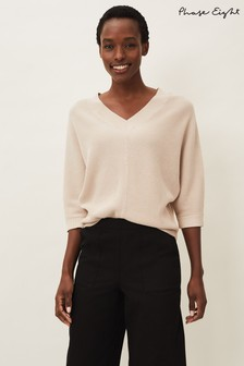 Phase Eight Neutral Rylie Ripple Jumper