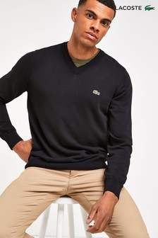 Lacoste® V-Neck Cotton Jumper