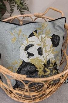 Furn Green Panda Cushion