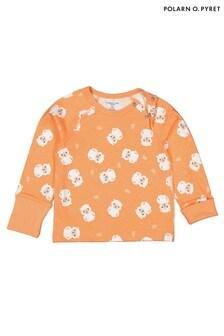 Polarn O. Pyret Orange Organic Little Lamb Top