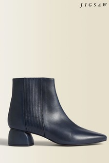 Jigsaw Blue Asher Leather Ankle Boots