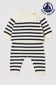 Petit Bateau Navy Stripe Two Piece Set