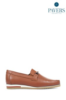 Pavers Tan Men's Casual Leather Loafers