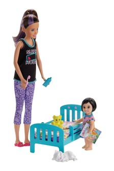 Barbie Skipper Babysitters Playset Bedtime Doll & Accessories