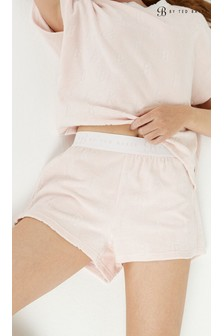B by Ted Baker Carved Cotton Towelling Shorts
