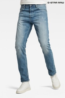 G-Star Triple A Straight Fit Mid Wash Blue Jeans
