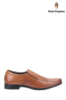 Hush Puppies Brown Billy Slip-On Shoes