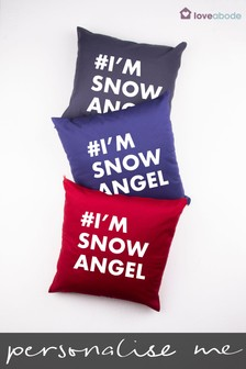 Personalised Hashtag Cushion by Loveabode