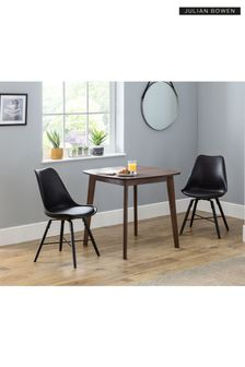 Set of 2 Kari Black Dining Chairs by Julia Bowen