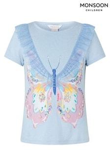 Monsoon Blue Edith Butterfly T-Shirt