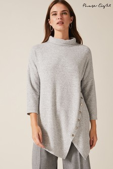 Phase Eight Grey Gala Asymmetric Snuggle Top