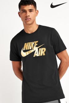 Nike Air Black Gold Foil T-Shirt