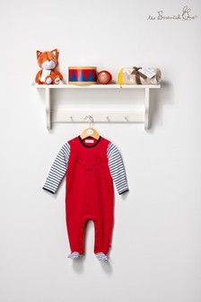 The Essential One Unisex Baby Red Sleepsuit