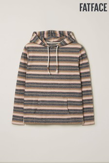 FatFace Natural Hembsy Stripe Overhead Hoody