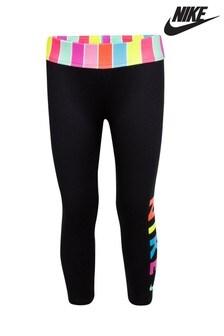 Nike Little Kids Black Candy Stripe Capri Leggings
