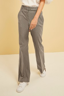 Belted Boot Cut Trousers