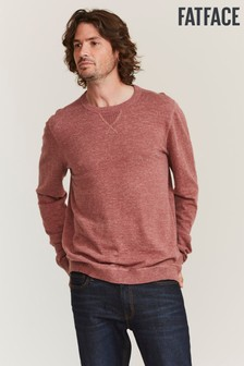 FatFace Pink Seaford Cotton Crew Jumper