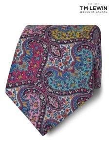 T.M. Lewin Liberty Fabric Wide Pink Spitalfields Cotton Tie