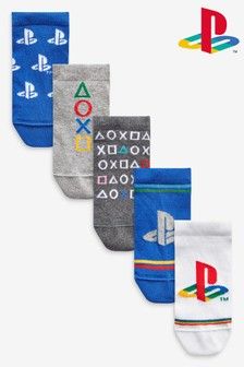 5 Pack Cotton Rich PlayStation™ Trainer Socks (Older)