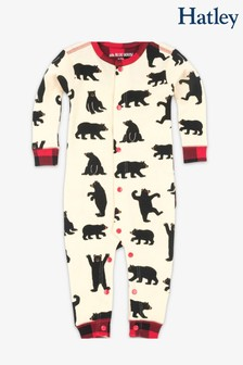 Hatley Cream/Black Bears Baby Union Suit